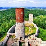 Zamek w Chęcinach - widok z wieży